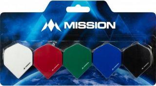 Mission Logo 100 Std. Black Red Dartflight | Darts Warehouse