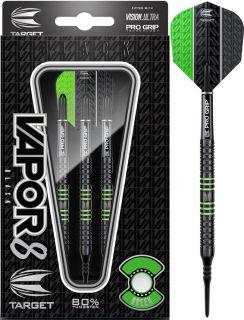 Vapor8 Black Green 80% Softtip Darts   DartsWarehouse