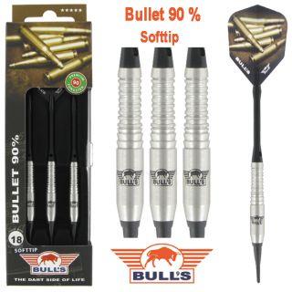 Bulls Bullet Softtip Dartpijlen 90% - www.dartswarehouse.nl