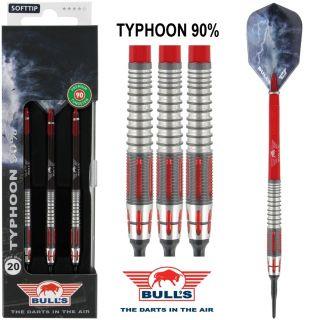 Typhoon 90% Bull's Softtip 20 gram Dartpijlen   Darts Warehouse