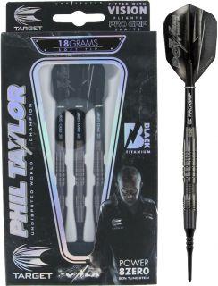 Target 8ZERO Black B 80% Phil Taylor Softtip Darts | DartsWarehouse