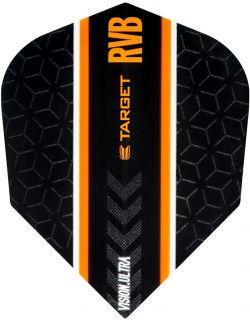 Vision Ultra Player RVB Black Std.6 Target Flight | Darts Warehouse