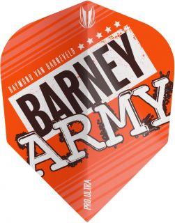 Vision Ultra Player Barney Army Orange Std.6 Target Flight | Darts Warehouse
