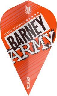 Vision Ultra Player Barney Army Orange Vapor Target Flight | Darts Warehouse