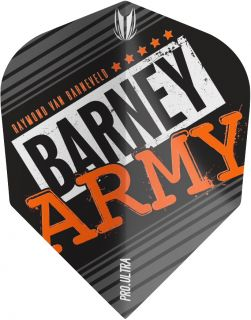 Vision Ultra Player Barney Army Black Std.6 Target Flight | Darts Warehouse