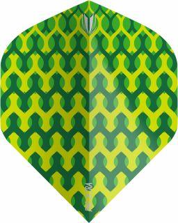 Vision Fabric Green Std. Target Dartflights | Darts Warehouse