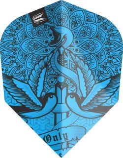 Vision Ultra Ink Blue Std.6 Target Dartflights   Darts Warehouse
