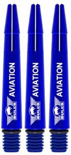 Bull's Aviation Short Blue   Strong Aluminium   Darts Warehouse
