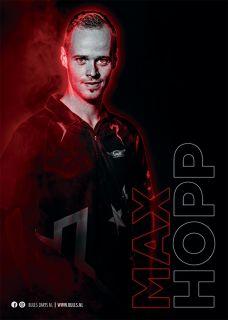 Max Hopp Player Poster A3 Bull's NL Darts | Darts Warehouse