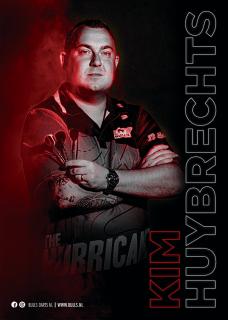 Kim Huybrechts Player Poster A3 Bull's NL Darts   Darts Warehouse