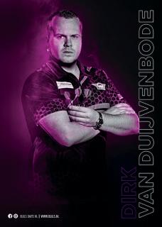 Dirk van Duijvenbode Player Poster A3 Bull's NL Darts   Darts Warehouse