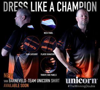 Raymond van Barneveld Dartshirt Unicorn   Darts Warehouse