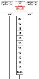 Darttel Flex 60x30 cm | Bull's Scorebord | Darts Warehouse