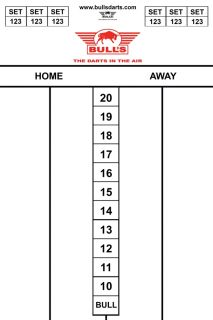 Darttel Flex 45x30 cm | Bull's Scorebord | Darts Warehouse