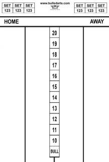 Darttel Flex LB 45x30 cm | Bull's Scorebord | Darts Warehouse
