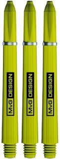 MvG Signature Nylon Green Medium Shafts | Darts Warehouse