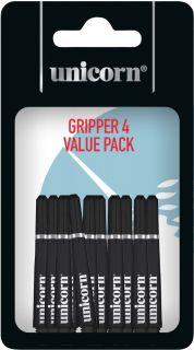 Gripper 4 Short Black Unicorn Shafts   Darts Warehouse