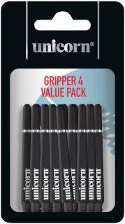 Unicorn Gripper 4 Medium Black Shafts   Darts Warehouse