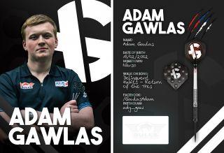 Adam Gawlas Signcard | Darts Warehouse