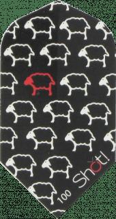 Shot Branded Black Sheep Slim Dartflight | DartsWarehouse