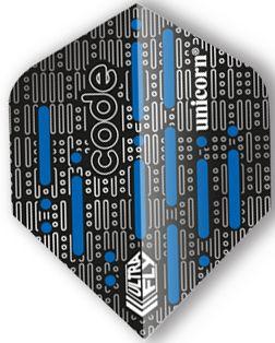 UltraFly Std. Code Blue Unicorn Flight   Darts Warehouse