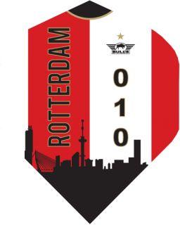Bull's Powerflight Std. Rotterdam Skyline Red | Darts Warehouse