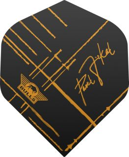 Bull's Powerflite P Jirkal Black with Sign Flight | Darts Warehouse