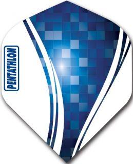 Pentathlon Std. Swirl Blue | Darts Warehouse Dart Flights