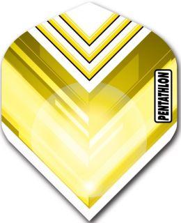 Pentathlon Std. V Yellow | Darts Warehouse Dart Flights