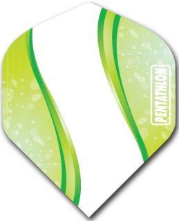 Pentathlon Std. Spiro Green | Darts Warehouse Dart Flights