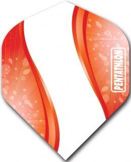 Pentathlon Std. Spiro Red | DartsWarehouse Dart Flights