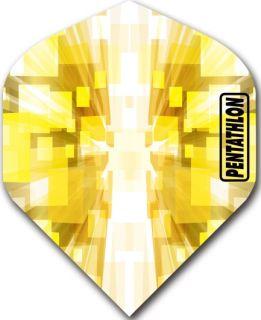Pentathlon Std. Burst Yellow | DartsWarehouse Dartflights