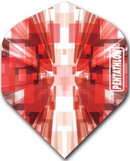 Pentathlon Std. Burst Red | DartsWarehouse Dartflights