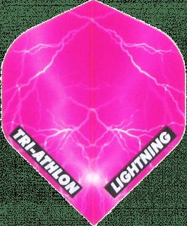 Triathlon Lightning Std. Clear Pink | Darts Warehouse