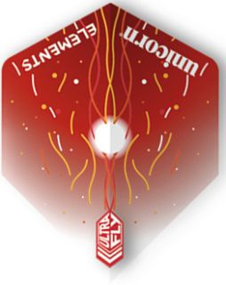 UltraFly Elements Red Firestorm Std. Unicorn Flight   Darts Warehouse