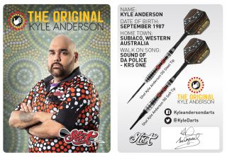 Kyle Anderson Signcard | Darts Warehouse