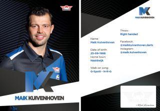 Maik Kuivenhoven Signcard | Darts Warehouse