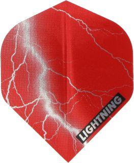 Metallic Lightning Std. Red | McKicks Dartflights | DartsWarehouse