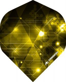 Mission Astral Yellow Std. Dartflight | Darts Warehouse