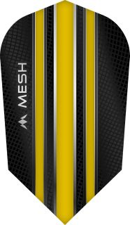 Mission Mesh Slim Yellow Dartflight   Darts Warehouse