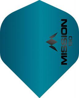 Mission Logo 150 Std. Blue Dartflight | Darts Warehouse