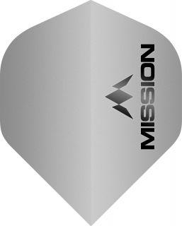 Mission Logo 100 Std. Matt Grey Dartflight | Darts Warehouse