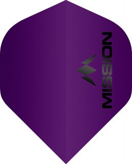 Mission Logo 100 Std. Matt Purple Dartflight | Darts Warehouse
