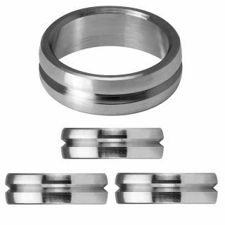 Mission F-Lock Titanium Silver Rings 2 mm | Darts Warehouse