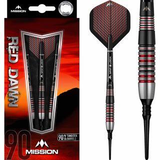 Mission Red Dawn 90% M2 Softtip Darts   Darts Warehouse