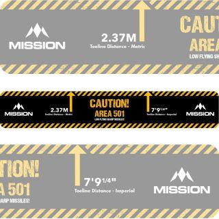 Throw Line Oche Sticker Caution Area 501 | Darts Warehouse