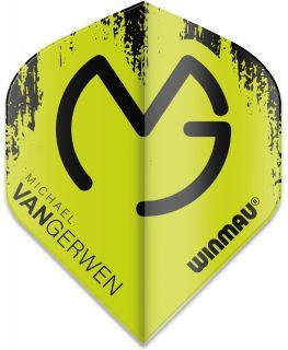 Mega Standard MvG Green-Black Winmau Flights | Darts Warehouse
