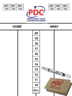 PDC Scoreset 45x30 cm | Darts Warehouse