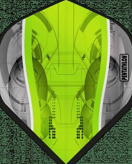 Pentathlon Silver Edge Green   McKicks Flights   Darts Warehouse