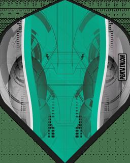 Pentathlon Silver Edge Aqua   McKicks Flights   Darts Warehouse